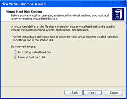 Create a new virtual hard disk