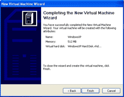 Finishing Create a Virtual Machine
