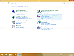 Windows 8.1 - Control Panel