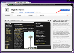 Chrome - High Contrast extension
