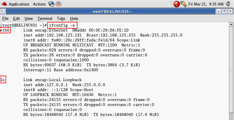 How to set ip address in redhat linux 5