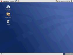 Root's desktop