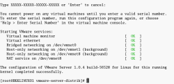 Finishes install and configure VMWare Server
