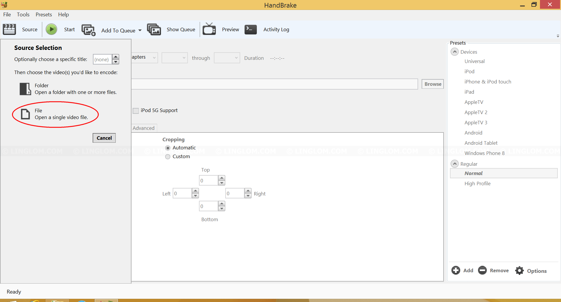Reduce MP4 File Size with HandBrake - Linglom.com