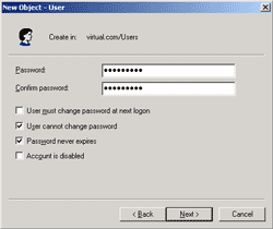 Check password never expires