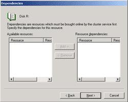 Select dependencies resources