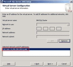 Create a Virtual IP Address for SQL Server Cluster
