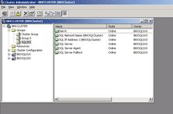 MS SQL Server's resource on Cluster Administrator