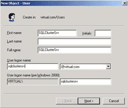 Create a service account