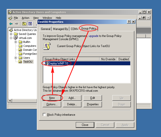 how to create group policy in windows 7
