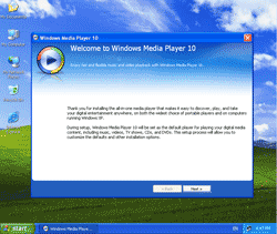 First Time to Run Windows Media Player 10
