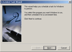 Scheduled Task Wizard