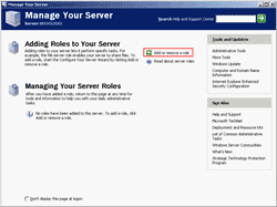 Manage Your Server - Add Application server role