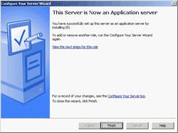 Finished setup Application server