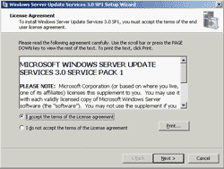 WSUS License Agreement