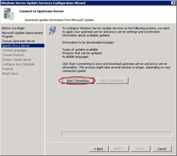 Test connection to the upstream server