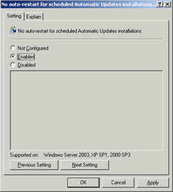 Configure Windows Update policy