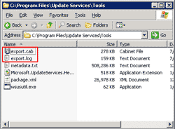 The metadata's backup file