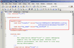 Define variables in web.config