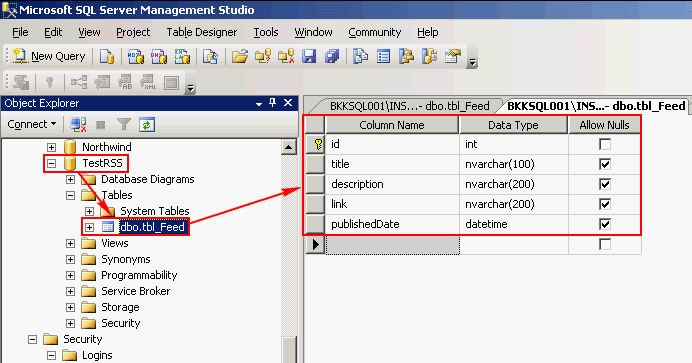 Create Dynamic RSS Feed from MS SQL Server using ASP NET, Part 1: VB NET