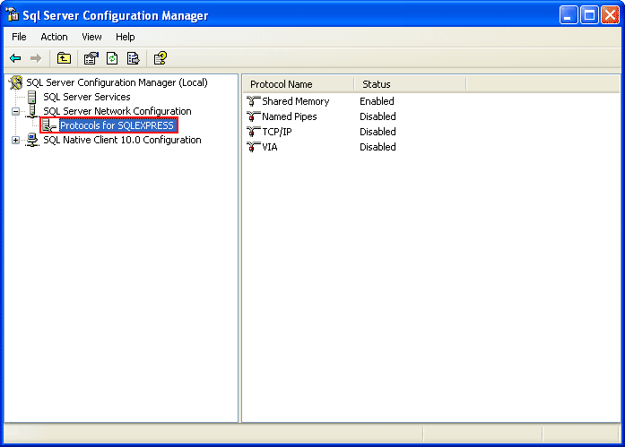 sql server management studio express 2008  windows xp