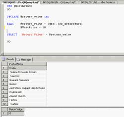Execute SP Optional Parameters