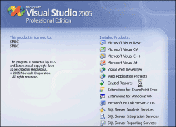 Open Microsoft Visual Studio 2005