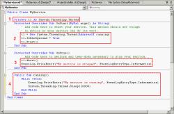 Coding on MyService