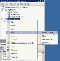 Add new project output