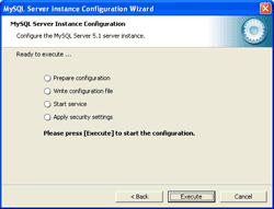 Execute MySQL Server Configuration
