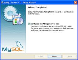 Finishes MySQL Server Installation