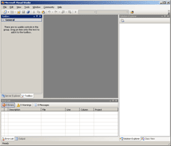 Open Microsoft Visual Studio 2005
