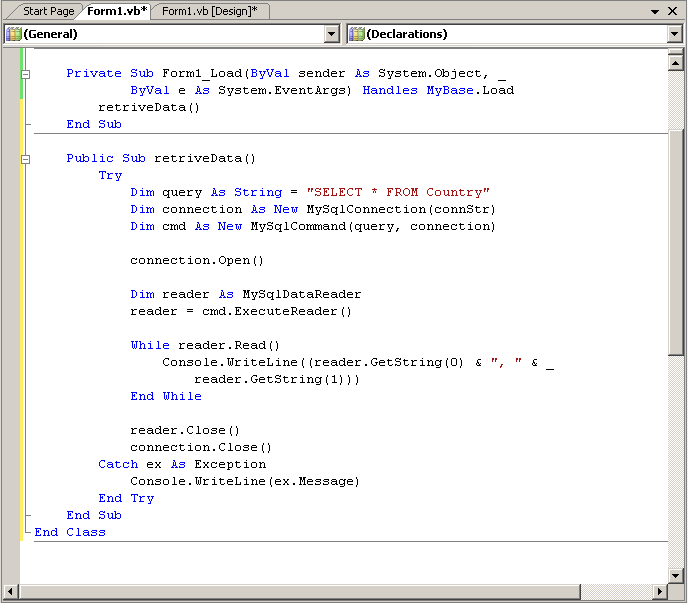 executenonquery example vb.net