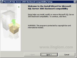 Microsoft SQL Server 2005 Backward compatibility Setup