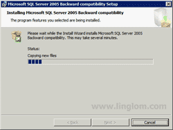 Installing Microsoft SQL Server 2005 Backward compatibility