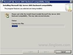 Installing Microsoft SQL Server 2005 Backward compatibility