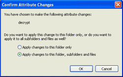 Apply changes to this folder, sub-folders and files