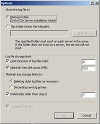 Log MSDE Database Options