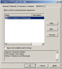 Blocks Windows Live Messenger