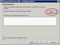 Configure Internal Network Address Ranges