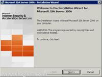 ISA Server 2006 Installation Wizard