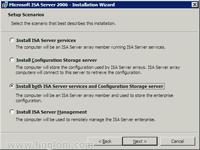 Select Scenario for ISA Server 2006 Installation
