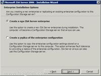 Create New ISA Server Enterprise