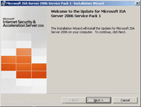 Welcome to the Update for Microsoft ISA Server 2006 Service Pack 1