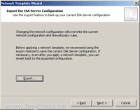 Export the ISA Server Configuration