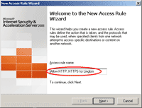 Welcome to the New Access Rule Wizard