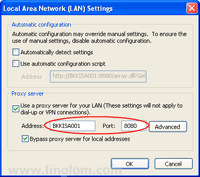 Configure ISA Server as proxy server