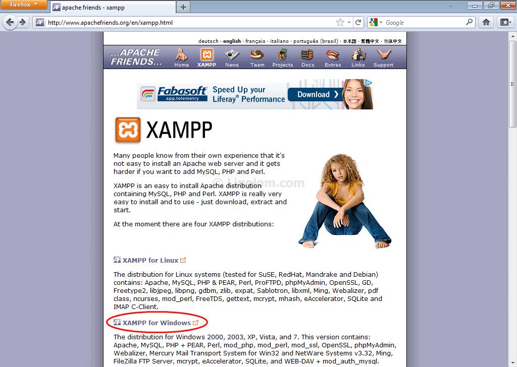 1.7.4 WEB SERVER TÉLÉCHARGER XAMPP