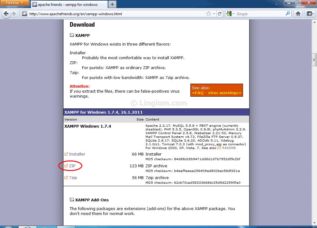 Setup Apache web server using XAMPP on Windows - Linglom com