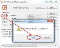 Install Apache as service